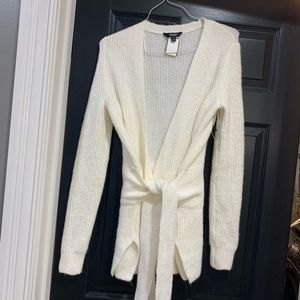 NEW Soft Ivory Belted Cardigan by Simply Vera Smal